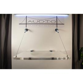 Audio Suspension ASU-100 - wall mount (clear acrylic shelf / up to 25 kg) - from the exhibition