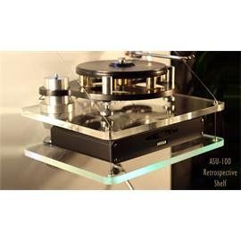 Audio Suspension ASU-100 Retrospective Shelf - add on shelf module for wall mount (clear acrylic shelf / up to 12 kg) - from the exhibition (normal RRP = 299,00 Euro)