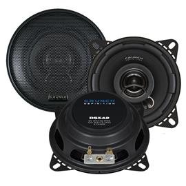 CRUNCH DSX42 - 2-Way coaxial loudspeakers (60/120 Watts / 10 cm / 1 pair)