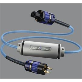 IsoTek EVO3 Syncro - power cable (EU Schuko on C15 plug / audiophile 24-carat gold-plated connectors with 3-core silver-plated OCC copper conductors of 3 mm² / light blue / 2.2 m)