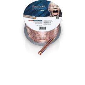 Oehlbach 301 - Speaker Wire SP-40 1000 - Loudspeaker cable flexible Mini-coil (10m / transparent / copper / 2 x 4qmm)