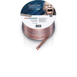 Oehlbach 302 - Speaker Wire SP-40 2000 - Loudspeaker cable flexible Mini-coil (20m / transparent / copper / 2 x 4qmm)