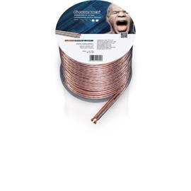 Oehlbach 305 - Speaker Wire SP-40 3000 - Loudspeaker cable flexible Mini-coil (30m / transparent / copper / 2 x 4qmm)