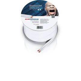 Oehlbach 307 - Speaker Wire SP-40 2000 - Loudspeaker cable flexible Mini-coil (20m / white / copper / 2 x 4qmm)