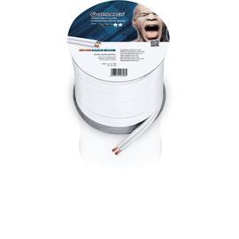 Oehlbach 308 - Speaker Wire SP-40 3000 - Loudspeaker cable flexible Mini-coil (30m / white / copper / 2 x 4qmm)