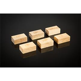 Cardas Audio Golden Cuboids - myrtle wood blocks S - equipment base legs (small type / made of myrtle wood / 6 pieces)