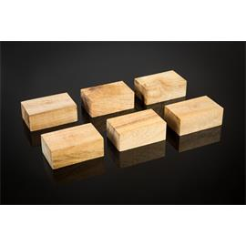 Cardas Audio Golden Cuboids - myrtle wood blocks L - equipment base legs (large type / made of myrtle wood / 6 pieces)