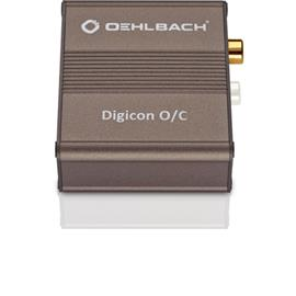 Oehlbach 6037 - Digicon O/C - Digital optical-electrical audio converter (24 bit / metallic brown)