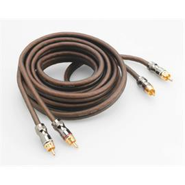 Focal Elite ER5 - RCA audio cable (high performance stereo cable / RCA-RCA / 5.0 m / coppery or milky-transparent / 1 pair)