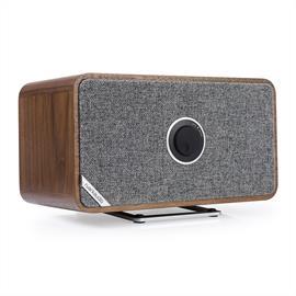 ruarkaudio MRx - verbundener kabelloser Bluetooth-Lautsprecher (Bluetooth / 20 Watt / linearer Klasse A-B Verstärker / Apt-x-Bluetooth / Walnuss Echtholzfurnier)