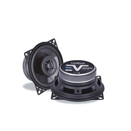 Axton AE402F - 2-way speaker coaxial system (10 cm / 4 inch / 80 Watts nominal power handling / durable construction / part of the Evolution series)