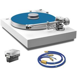 Pro-Ject ATR Celebration 40 SuperPack 1 by Pro-Ject - record player (matt white / MC cartridge SPU ATR C40 / tonearm 9cc / phono cable / dust cover)