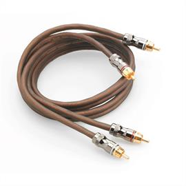 Focal Elite ER1 - RCA audio cable for amplifiers (high performance stereo cable / RCA-RCA / 1.0 m / coppery or milky-transparent / 1 pair)