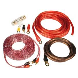 "ZEALUM ZPK-20S - ""SOLID"" power cable set (connection cable set 20 mm2 / with pure copper quality / installation kit for beginners)"