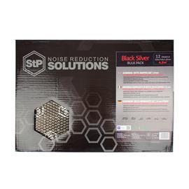 STP BLACK SILVER - damping mats made of self-adhesive alubutyl = aluminum + butyl (BULK PACK = 500 mm x 750 mm x 1.8 mm / 4.5 m² / 12 pieces)