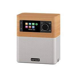 Sonoro Stream - multiroom allrounder (internet radio incl. DAB+ / BT / USB port / Spotify / DLNA / UPnP / maple/white)