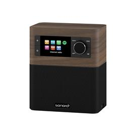 Sonoro Stream - multiroom allrounder (internet radio incl. DAB+ / BT / USB port / Spotify / DLNA / UPnP / walnut/black)