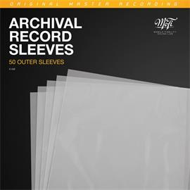 Mobile Fidelity Archival Record Outer Sleeves (50 pieces / high quality outer sleeves / transparent / 0.4 mm thick / very stable)
