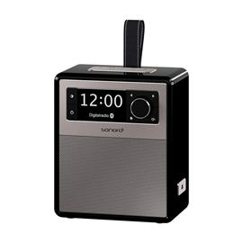 Sonoro Easy - portable music system and digital radio (FM/DAB/DAB+ / BT / USB / MP3 / LED night lamp / with leather strap / black)