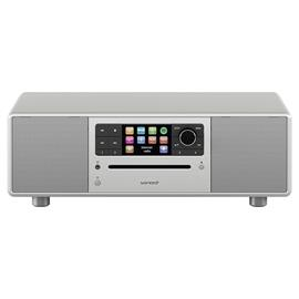 Sonoro Prestige 2.1 - compact system (2-way audio system with subwoofer / slot-in CD player / DAB+ / BT / USB-Port / Spotify / DLNA / UPnP / silver)