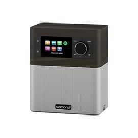 Sonoro Stream - multiroom allrounder (internet radio incl. DAB+ / BT / USB port / Spotify / DLNA / UPnP / bog oak/silver)