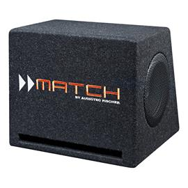 "MATCH PP 7E-D - bass reflex box (sub with 2 x 16.5 cm (6.5"") long excursion woofers / 200 W RMS / 400 W max / incl. plug & play subwoofer connection cable)"