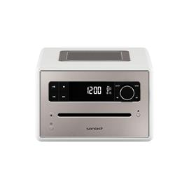 Sonoro QUBO - stereo radio music system (slot-in CD player / BT / DAB/DAB+/FM digital radio / many more features / white)