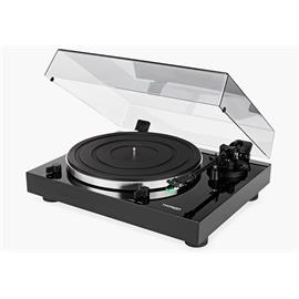 THORENS TD 202 - record player / turntable (incl. integrated phono preamplifier / USB / p & p / Thorens 8.8 inch aluminum tonearm / MM cartridge AT 95 E / high-gloss black)