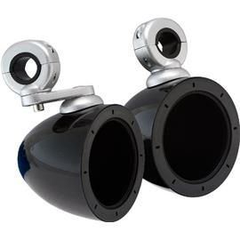 KICKER 40 KMMTES - marine tower speaker housing incl. mount (4 inch / 10.2 cm / 360 degree axis rotation / 1 pair / high gloss black)