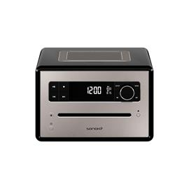 Sonoro QUBO - stereo radio music system (slot-in CD player / BT / DAB/DAB+/FM digital radio / many more features / black)