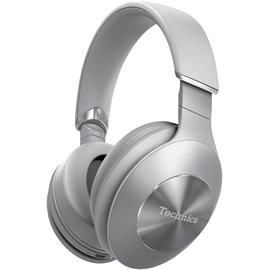 Technics EAH-F70N - premium Bluetooth headphones (40 mm driver / active hybrid noise canceling / incl. various cables & connectors / incl. transport box / silver)