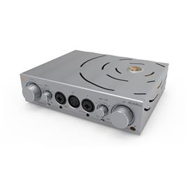 iFi-Audio Pro iCAN - high-end tube headphone amplifier (high quality tubes / 3D Holographic® / XBass® / incl. remote control / silver)