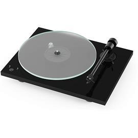 Pro-Ject T1 Phono SB - record player incl. tonearm + Ortofon MM cartridge OM 5E (high gloss black / incl. phono cable / incl. dust cover)