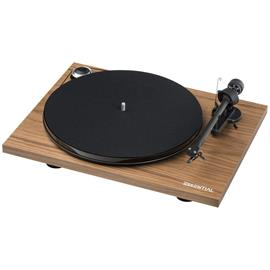 Pro-Ject Essential III - record player incl. tonearm + Ortofon cartridge OM10 (walnut / incl. dust cover)
