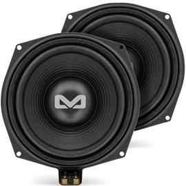 "Ampire BMW-W1 - bass loudspeakers for BMW vehicles (for underseat installation / 100 Watts RMS / 200 Watts max. / 20 cm (8"") subwoofer / 1 pair)"