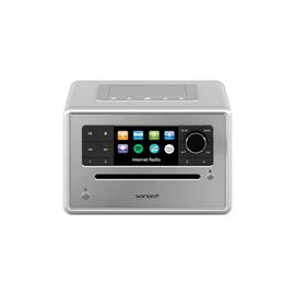 Sonoro Elite - internet radio with CD player (streaming / FM / DAB+ / WLAN / AUX / BT / Spotify / DLNA / UPnP / Amazon Music / Deezer / silver)