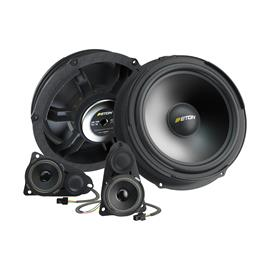 Eton UG VW T5 F3.1 - 3-way loudspeaker front system for VW T5 (90 Watts / 2 x 200 mm longstroke bass speakers / incl. crossover)