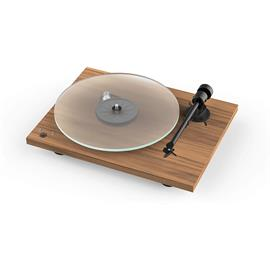 Pro-Ject T1 Phono SB - record player incl. tonearm + Ortofon MM cartridge OM 5E (walnut veneer / incl. phono cable / incl. dust cover)