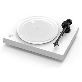 Pro-Ject X2 - record player incl. tonearm + Ortofon MM cartridge Pick it 2M Silver (matt white / incl. phono cable - Connect it E / incl. dust cover)