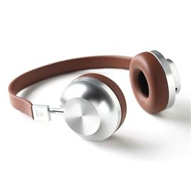 Aëdle VK-2 CLASSIC - high-end on-ear headphones (CNC-machined aluminum grade 6000 / brown lambskin leather)