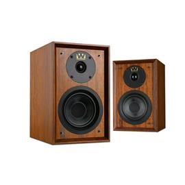Wharfedale DENTON 80th Anniversary - 2-way bass reflex bookshelf loudspeakers (20-100 Watts recommended amplifier power / mahogany red veneer / 1 pair)