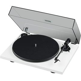Pro-Ject Primary E Phono - record player with integrated phono pre-stage (matt white / incl. tonearm + Ortofon - OM cartridge / dust cover / plug & play)