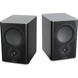 Mission QX-2 - 2-way bass reflex bookshelf loudspeakers black wood finish (1 pair)