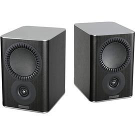 Mission QX-1 - 2-way bass reflex bookshelf loudspeakers black wood finish (1 pair)