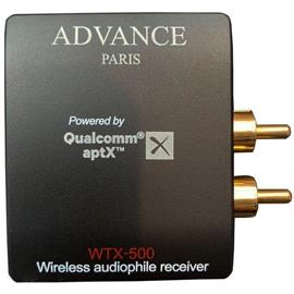 Advance Paris WTX-500 - compact streaming adapter or Bluetooth receiver (wireless audio receiver / aptX compatible / BT analog output / incl. RCA outputs / black)