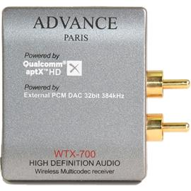 Advance Paris WTX-700 - wireless multicodec receiver (high definition audio / aptX HD / built-in external TI DAC / compatible Bluetooth-analog output / silver)