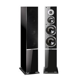 Quadral ARGENTUM 590 - 3-way bass reflex floorstanding loudspeakers (140/200 Watts nominal/music power / black / 1 pair)