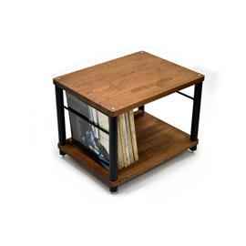 Atacama APOLLO - STORM 6 - hi-fi rack - 2-shelf base level module for ideal vinyl storage (made from dark solid oak / silk black modules / incl. spikes)