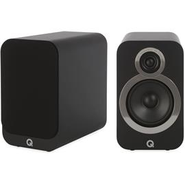Q Acoustics 3020i - QA3526 - 2-way bass reflex bookshelf loudspeakers (Carbon Black / 1 pair)