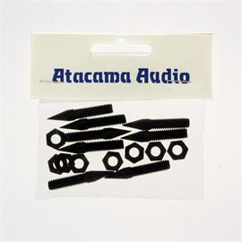 Atacama M6 spikes with lock nuts (set of 8 / black / for loudspeaker stands & hi-fi furniture)